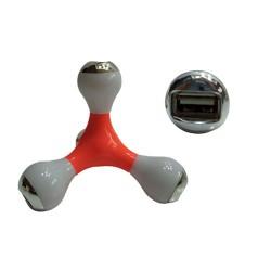 PLUG USB C/4 SAÍDAS.TAM: 9.4X9.4X9.4CM VERMELHO