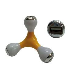 PLUG USB C/4 SAÍDAS.TAM: 9.4X9.4X9.4CM AMARELO
