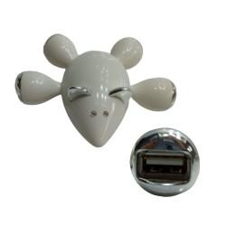 PLUG USB C/4 SAÍDAS TAM:11X12X4CM BRANCO