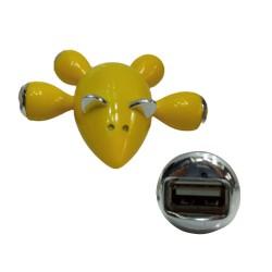 PLUG USB C/4 SAÍDAS TAM:11X12X4CM AMARELO