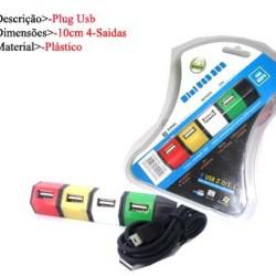 PLUG USB C/4 SAIDAS. TAM: 10X17X1CM