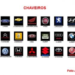 CHAVEIRO EM METAL. E COURO SINTÉTICO. TAM:5.4X11.3X1.3CM