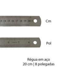 RÉGUA EM AÇO 20CM REF: JX15302