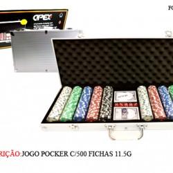 MALETA POCKER C/500 FICHAS