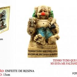 BONECO DE RESINA C/ FRASE