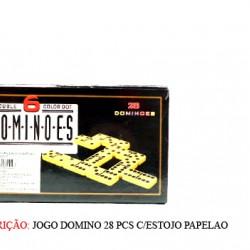 JOGO DOMINO 28 PCS C/ESTOJO. TAM: 18.2X11X3CM