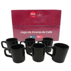 JOGO DE XÍCARAS DE CAFÉ 6PCS 80ML REF:D0CA53