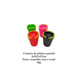 CINZEIRO PORTÁTIL DE PLÁSTICO PRETO REF:AP7527-YG