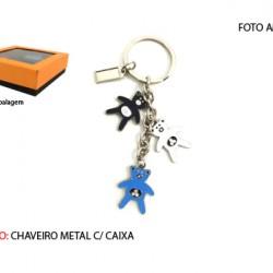 CHAVEIRO EM METAL. C/CAIXA. TAM:11X11X3.4CM